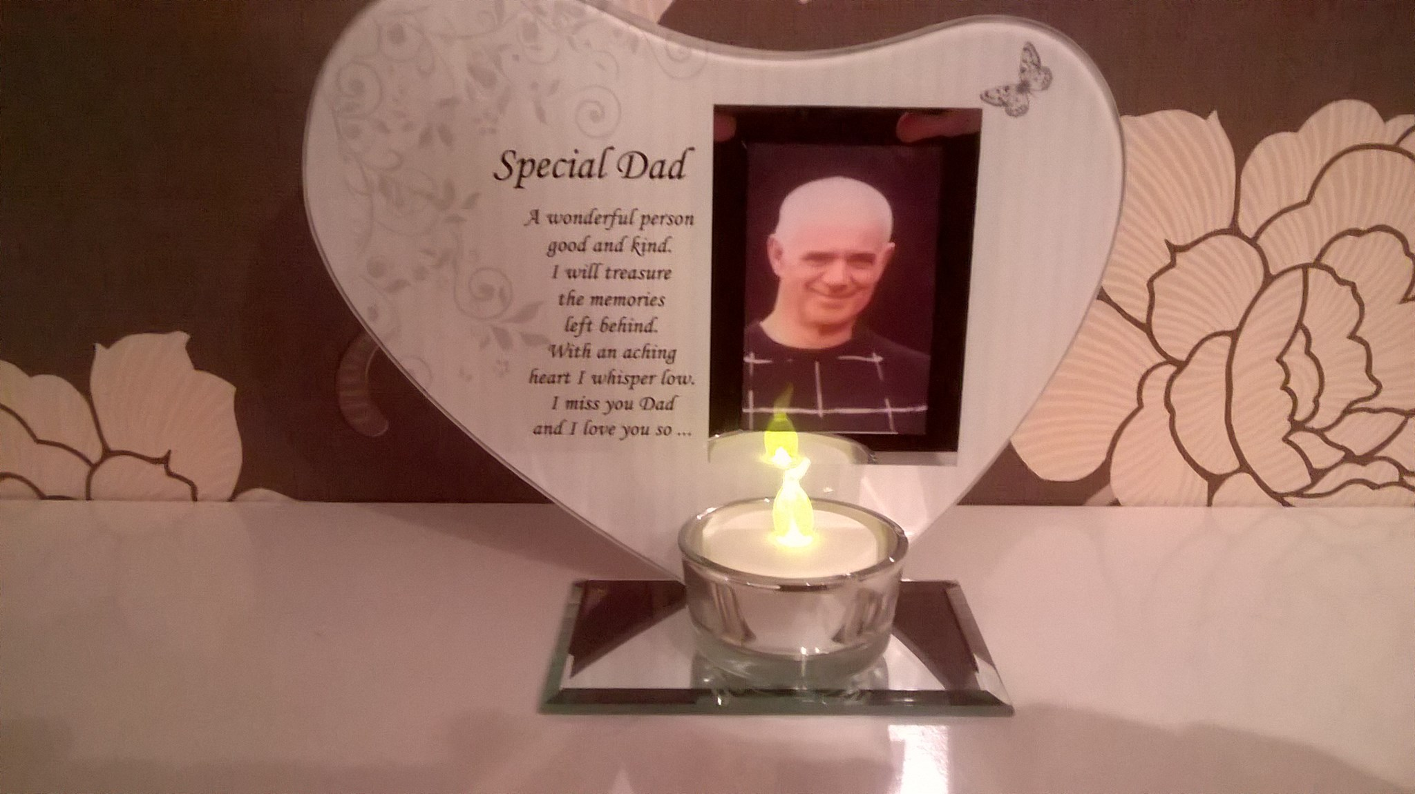 special dad in memory frame, candle and poem x