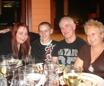 myself, my other half Dave, my dad Dave and my mum Lyn, 2007