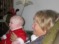mom and Isabel, Christmas 2004