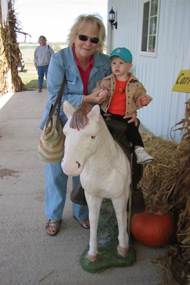 Mom and Isabel, horsing around...  fall 2005