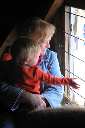 Mom and Isabel, fall 2005