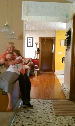 The kids always loved it when Grandma would visit.  Lots of hugs and laughs!