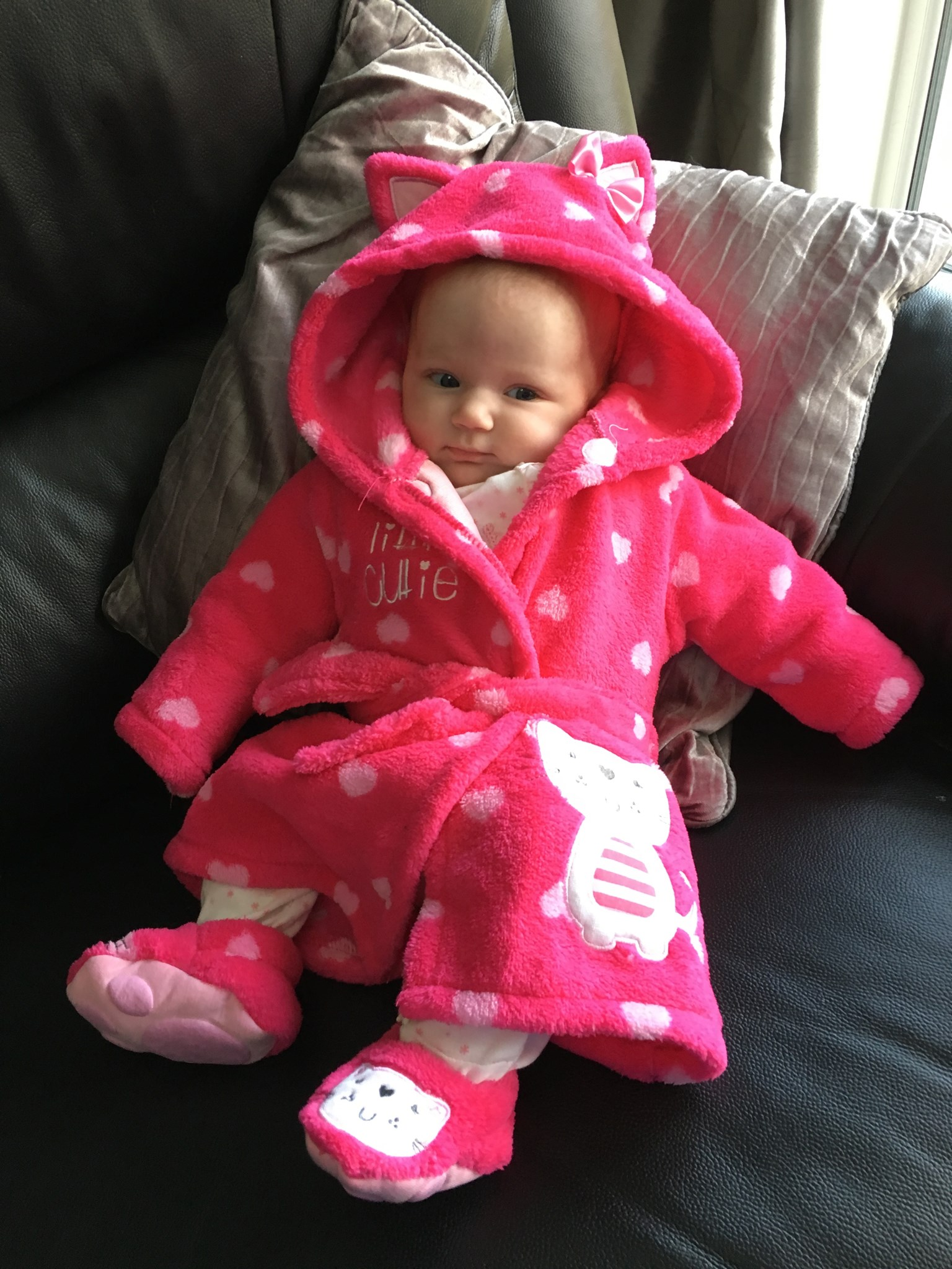 First dressing gown