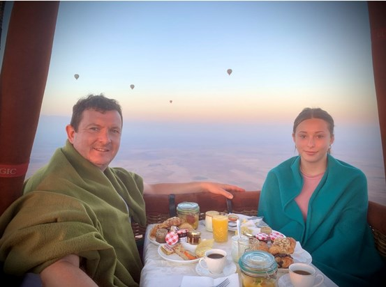 Breakfast in the clouds with my baby over the Atlas Mountains, Marrakech