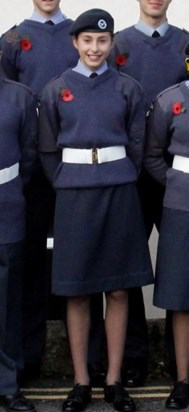 Darcy on Remembrance parade with 2312 Sqn. ATC