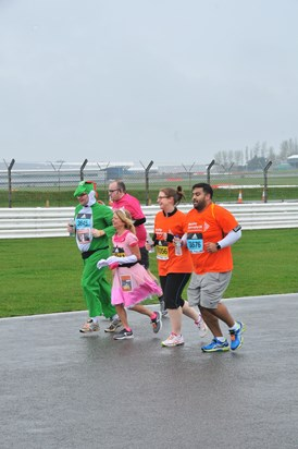 March 2017 Silverstone Half Marathon Team in action