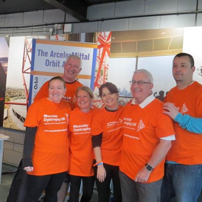 April 2018 Team Orange Abseil The Orbit