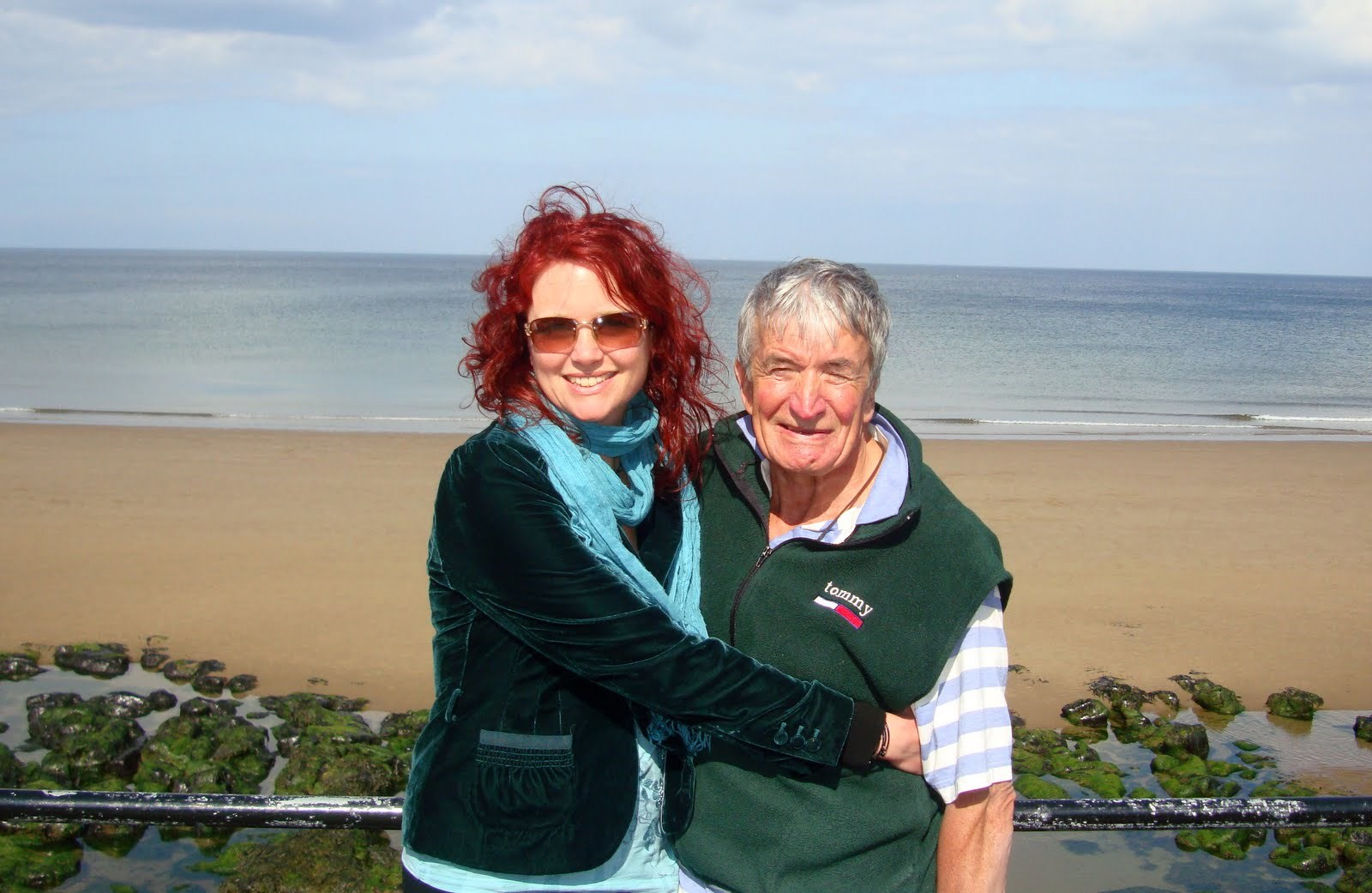 Dad and me (Susy) at Whitby in 2011