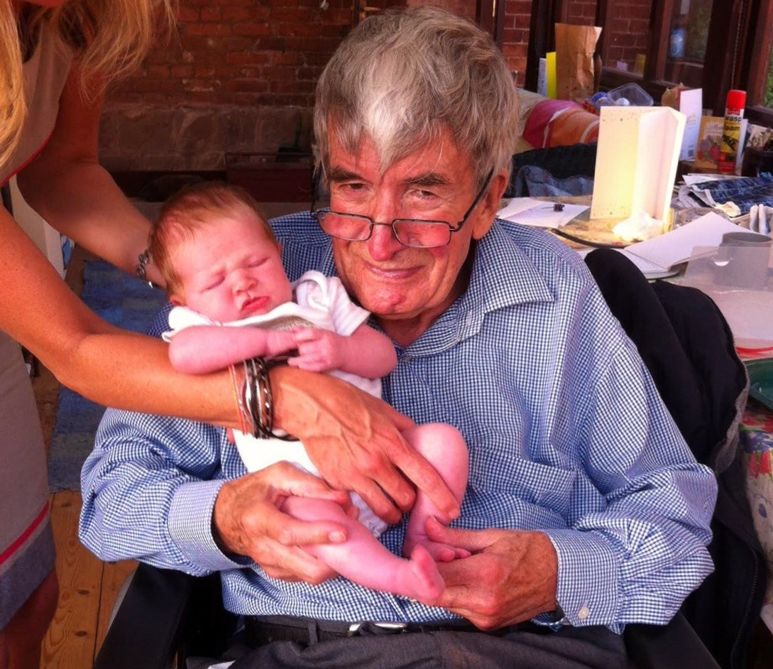 Dad and baby granddaughter Chloe xx