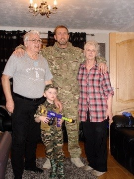 Me, Mum, Dad and LJ after my return from Afghanistan
