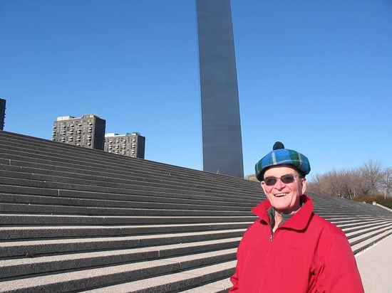John at the St Louis Arch