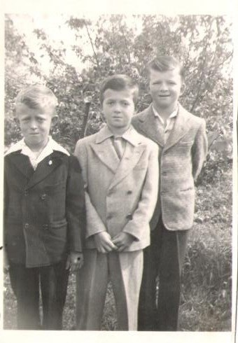 The 3 boys! Handsome little devils in their suits!
