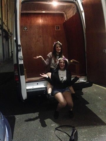 """""""Don't go in the van or there'll be trouble."""" *girls get in the van*"""