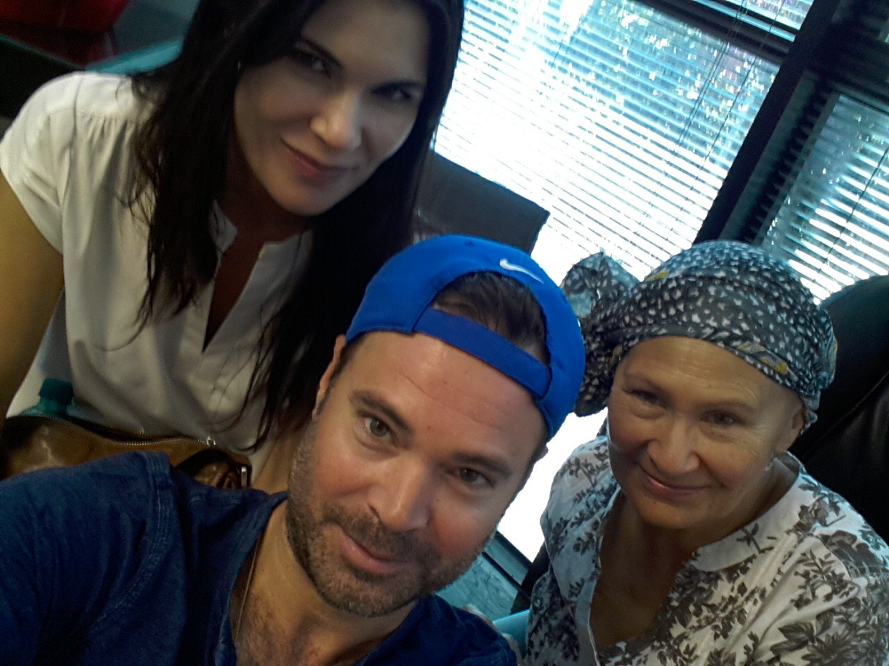 Pauline with Melanie and Jonathan after Chemo Treatment