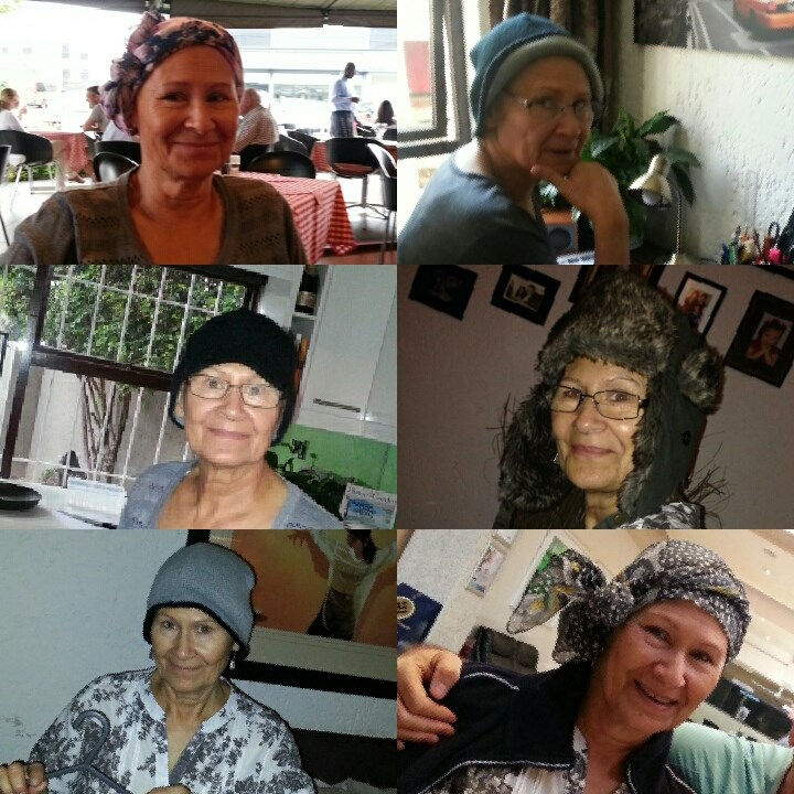 Pauline wearing many different hats