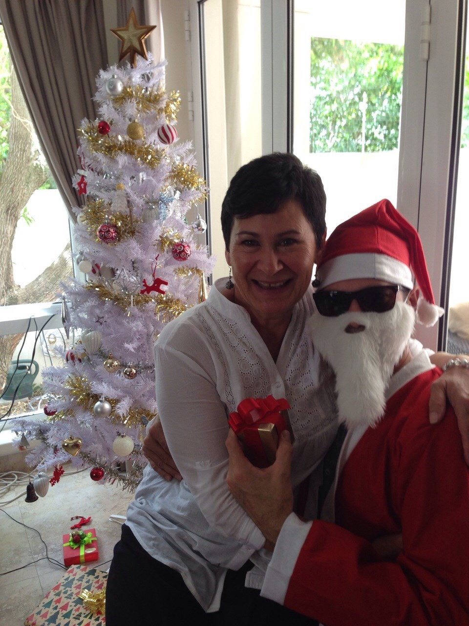 """Pauline and """"Father Christmas"""" in Cape Town"""