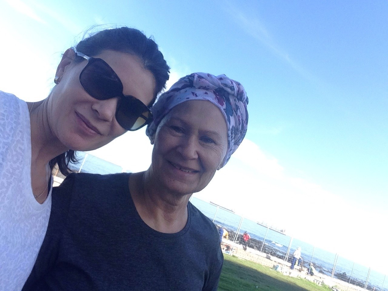 Melanie and Pauline in Cape Town