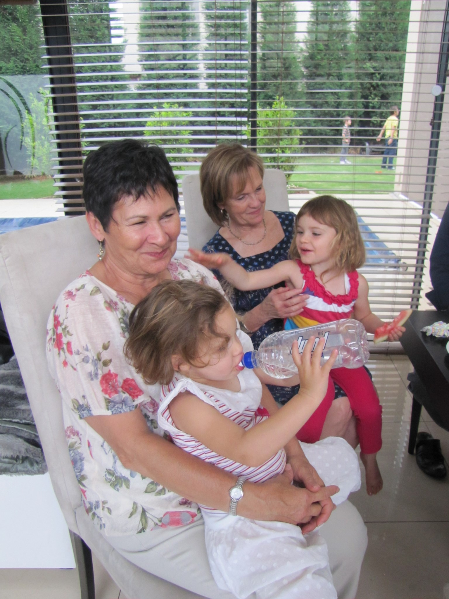 2012 At Melanie´s birthday with Chrisna and granddaughter
