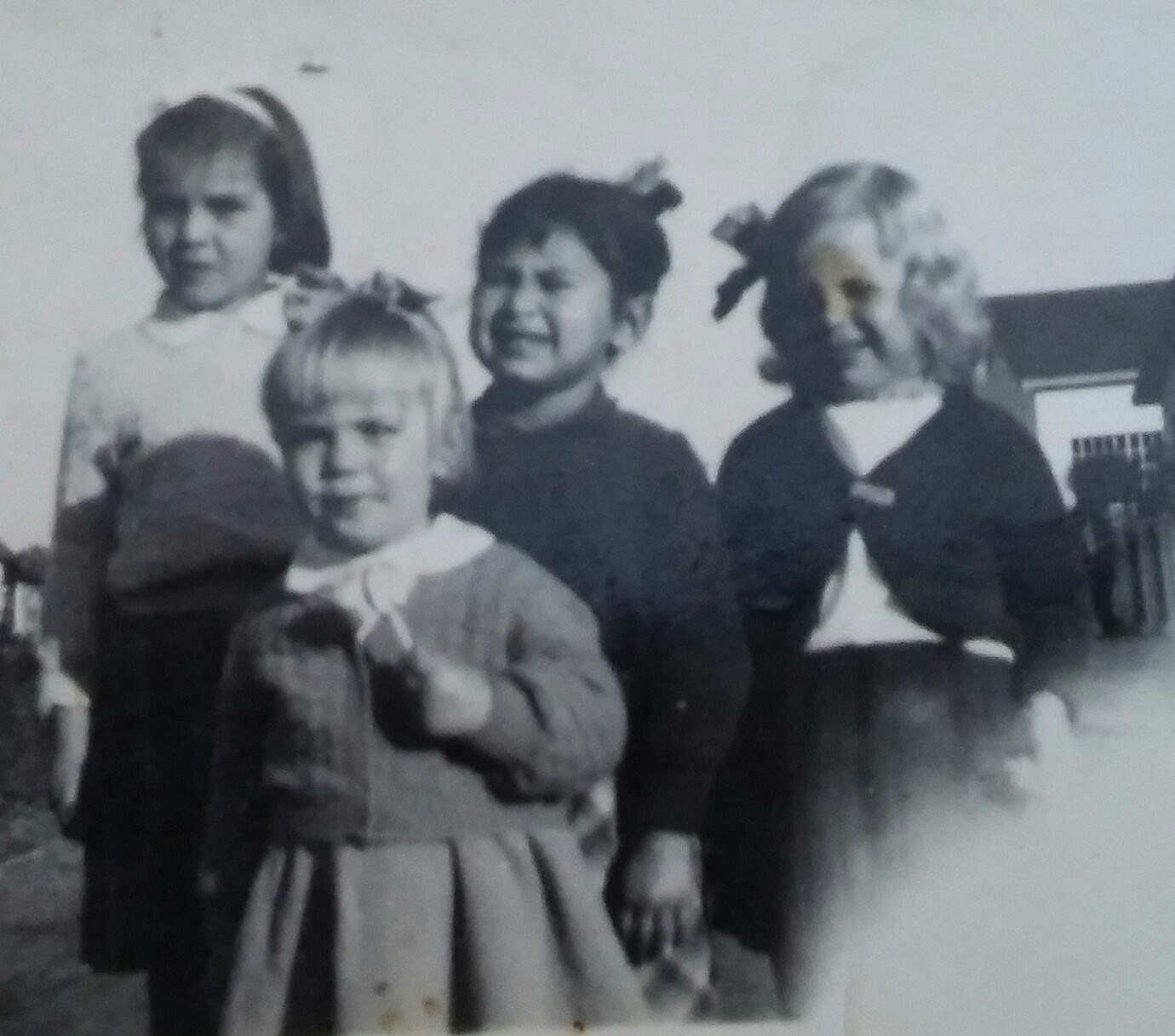 Pauline with Linda and Edna. 1955?