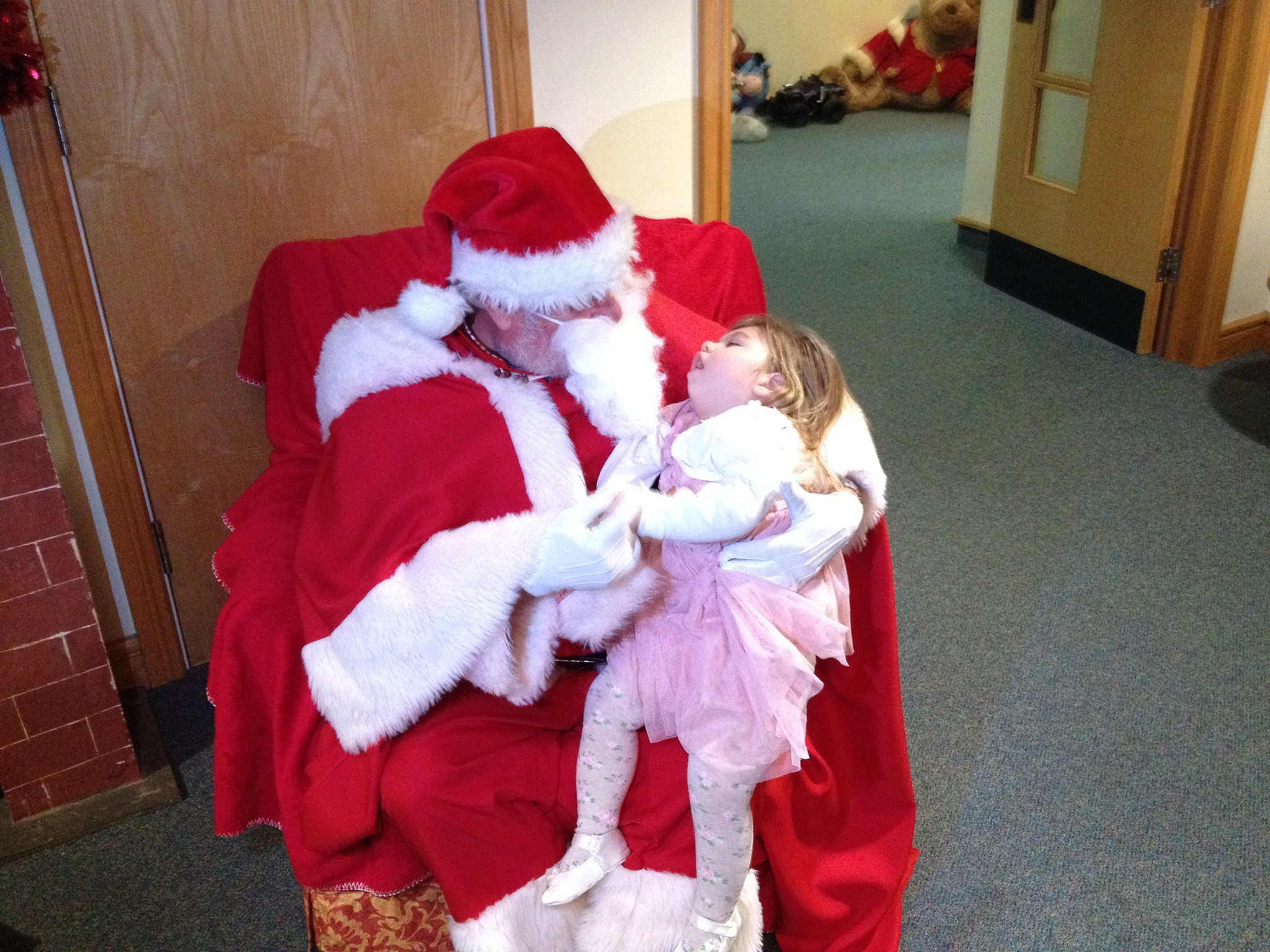 Grace meets Father Christmas at Shooting Star Chase
