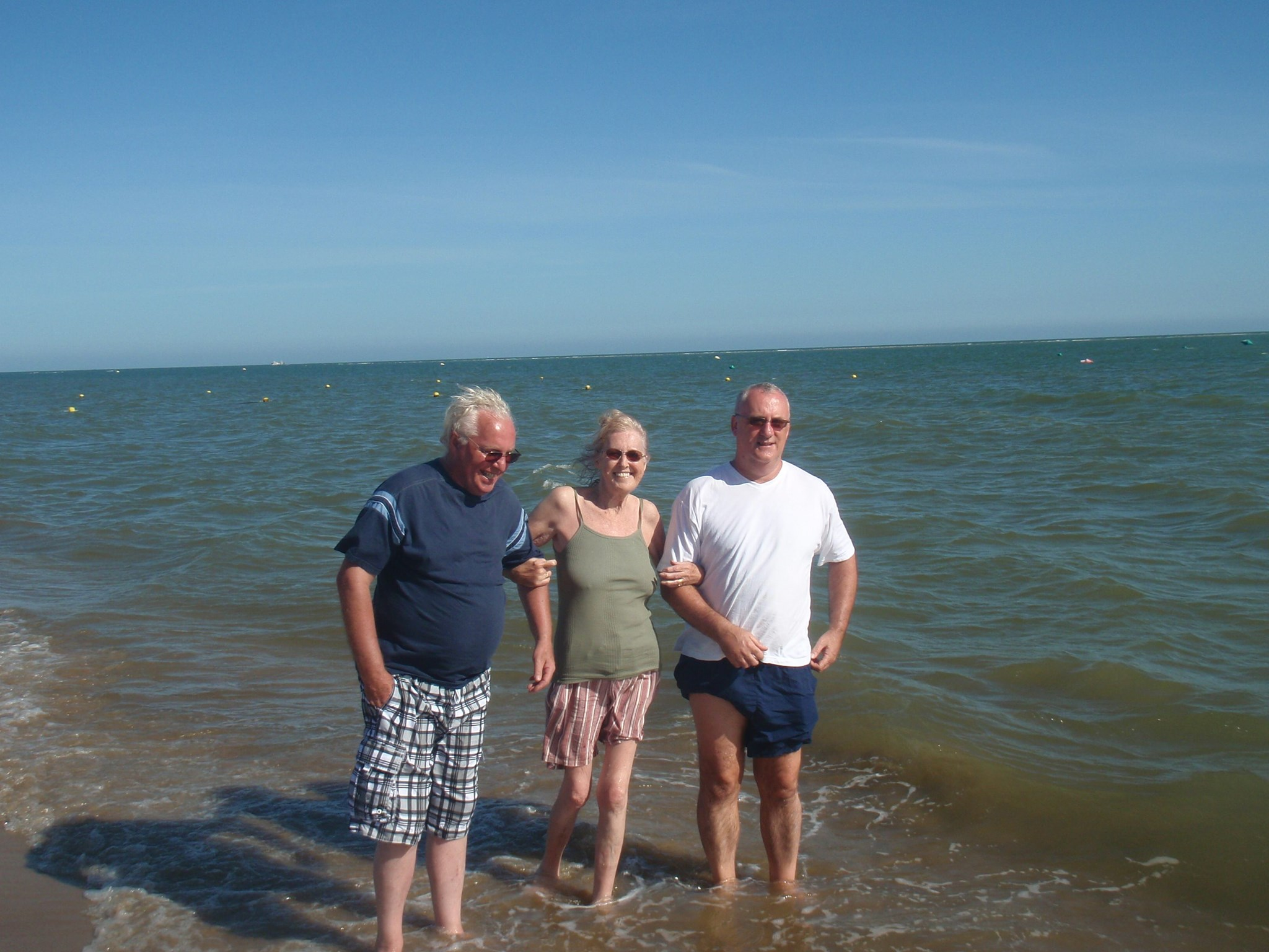 My Mum and Dad with Billy in the sea September 2010