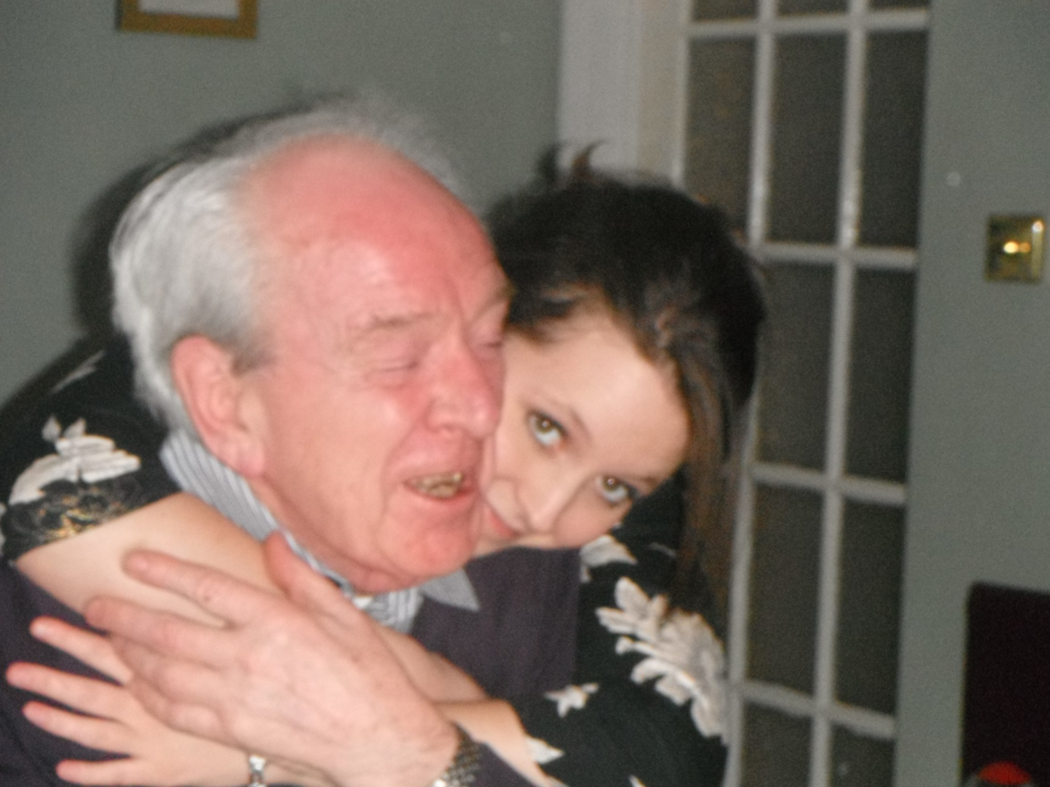 Allan with Katie on his 80th