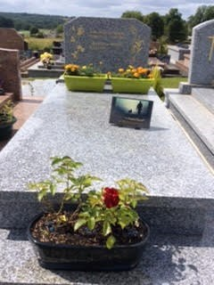 John's grave Father's Day 2018