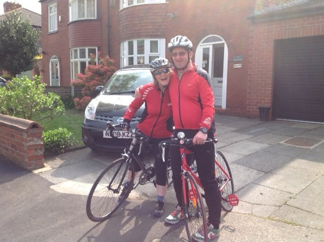 24th April 2015, off for coffee & cake with Tim