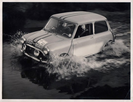 One of his many 'OGOs' rallying through a flooded section of the course