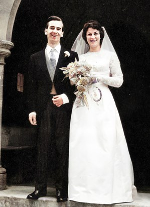 'On our wedding day' - 13th October 1962