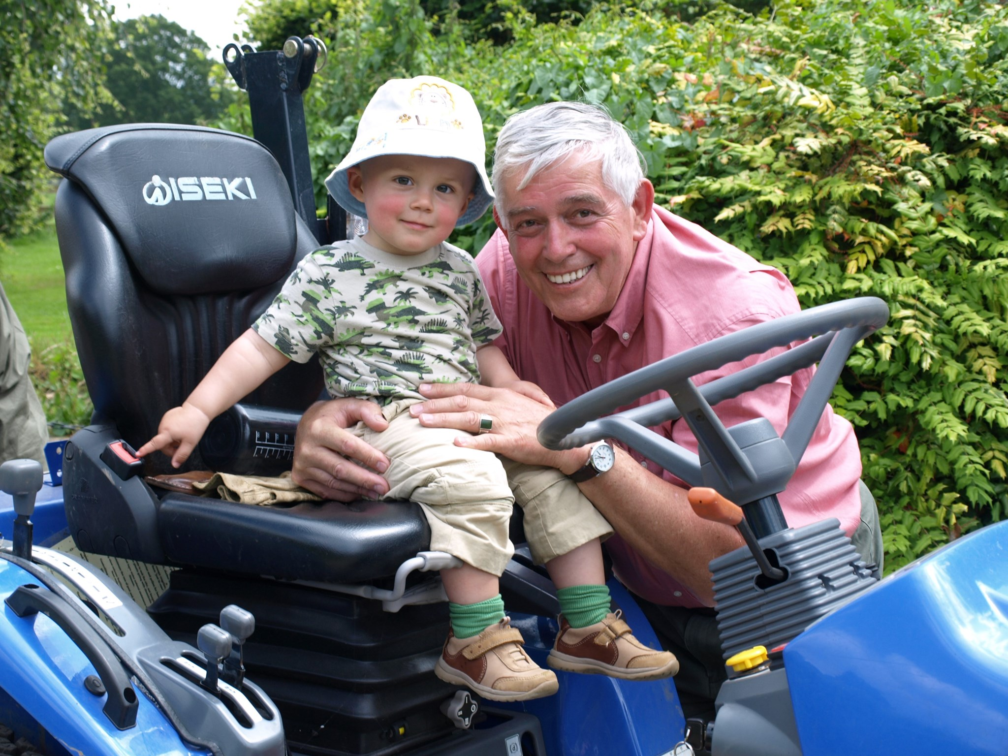 Tony with his Grandson Boris, The Cotswolds 2008