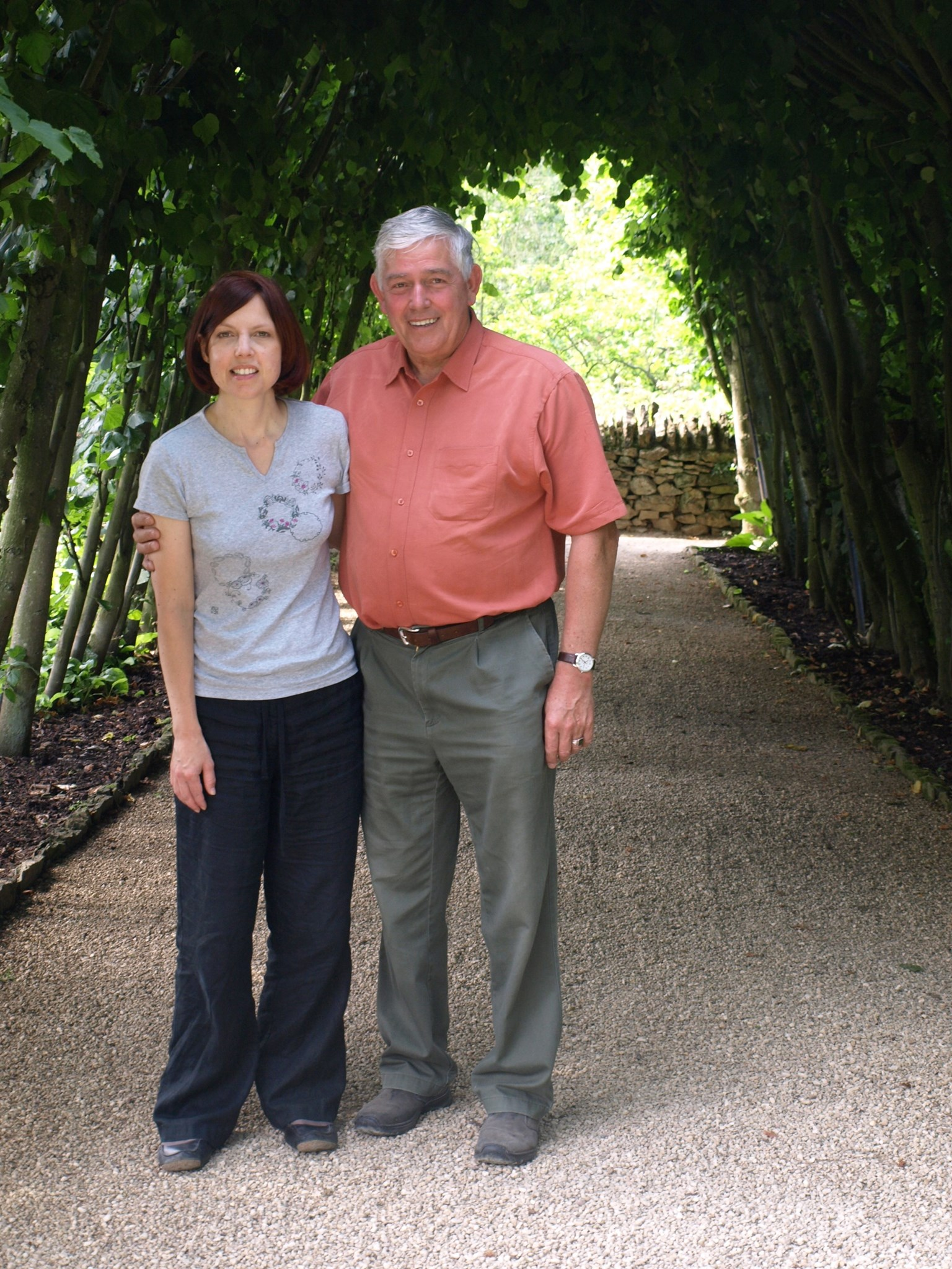 Tony with daughter-in-law Clare, Hidcote 2008