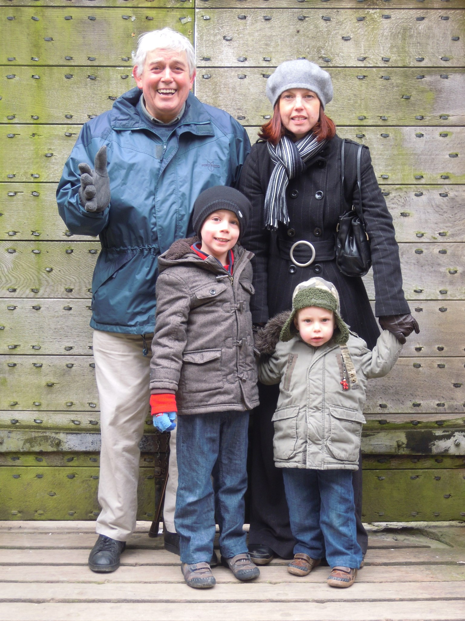 Tony locked in Caerphilly Castle with Clare, Boris and Ivan 2013