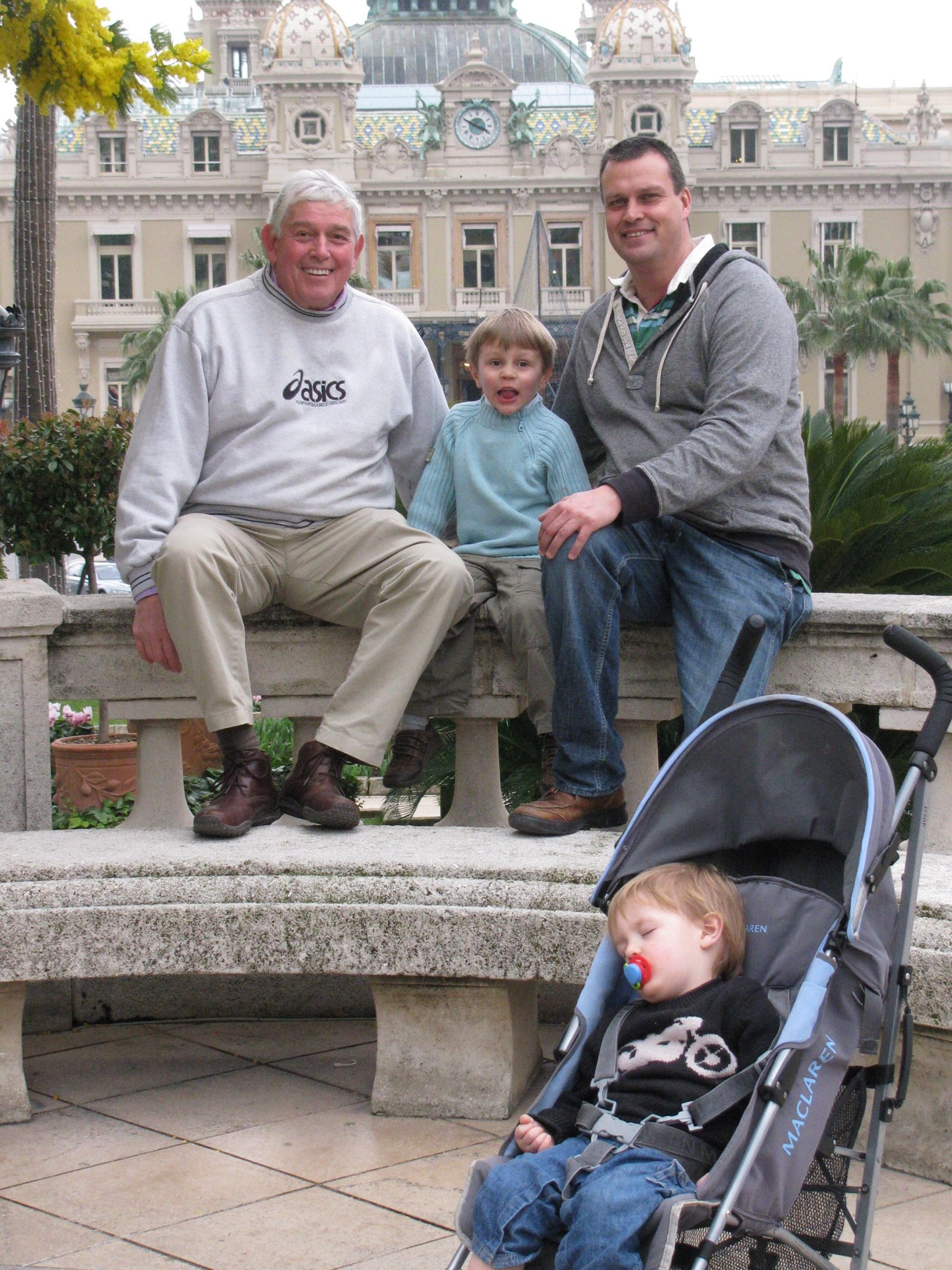 Tony, Paul, Stanley and Albert in front of the Monte Carlo casino - February 2011