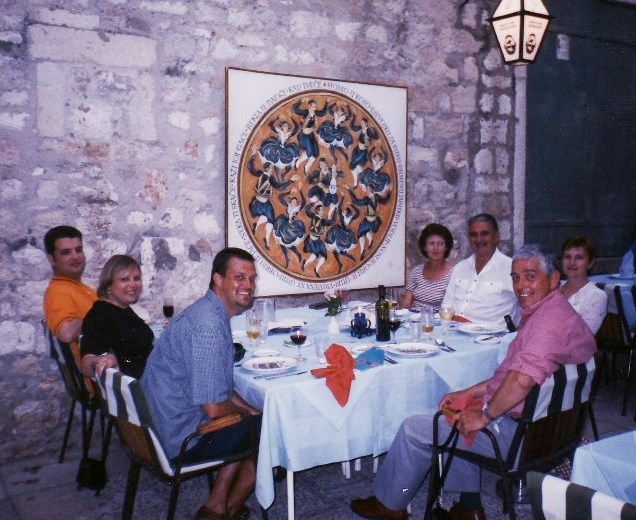 Tony's birthday with Paul, Kate and The Clarks - 29th May 1999 Dubrovnik