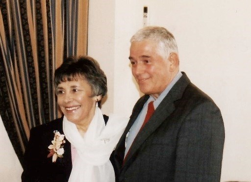 Tony and Eileen on their wedding day