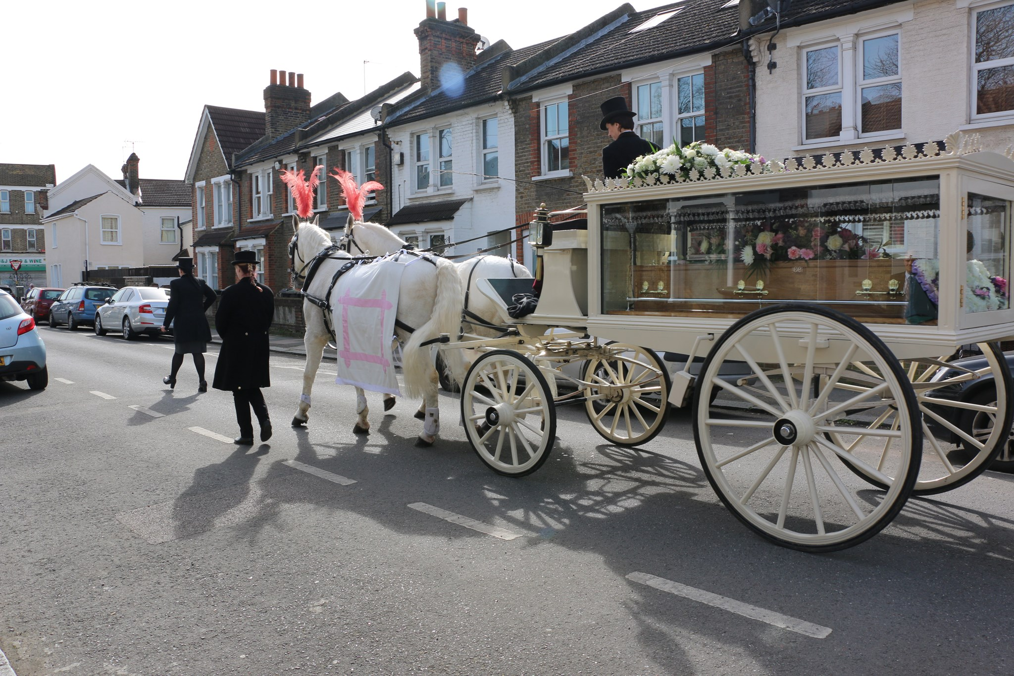 Nicola's last journey in a Victorian carriage