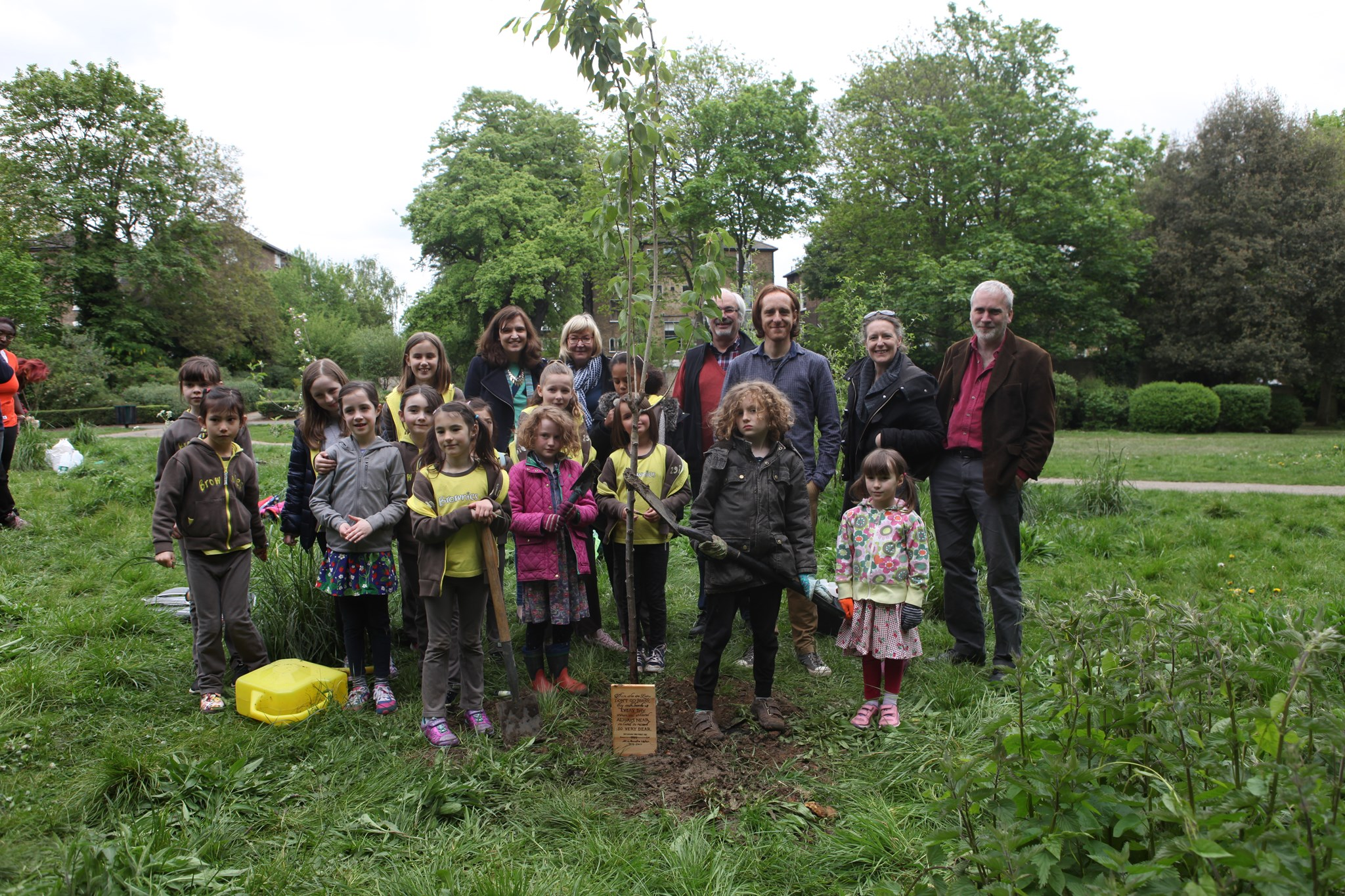 Cherry Blossom planting day in Manor Park for the memory of Nicola...2017/April