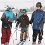Liam, Peter and Taft skiing