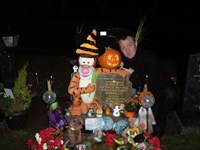 halloween with his daddy 2011
