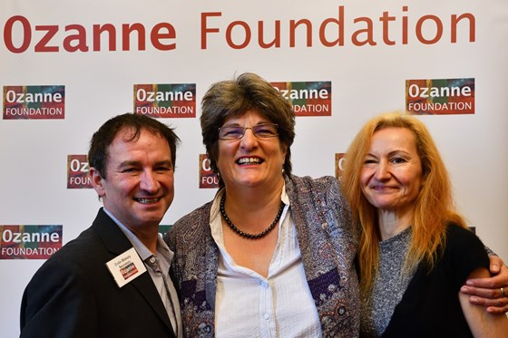 Colin & Libby at launch of Ozanne Foundation