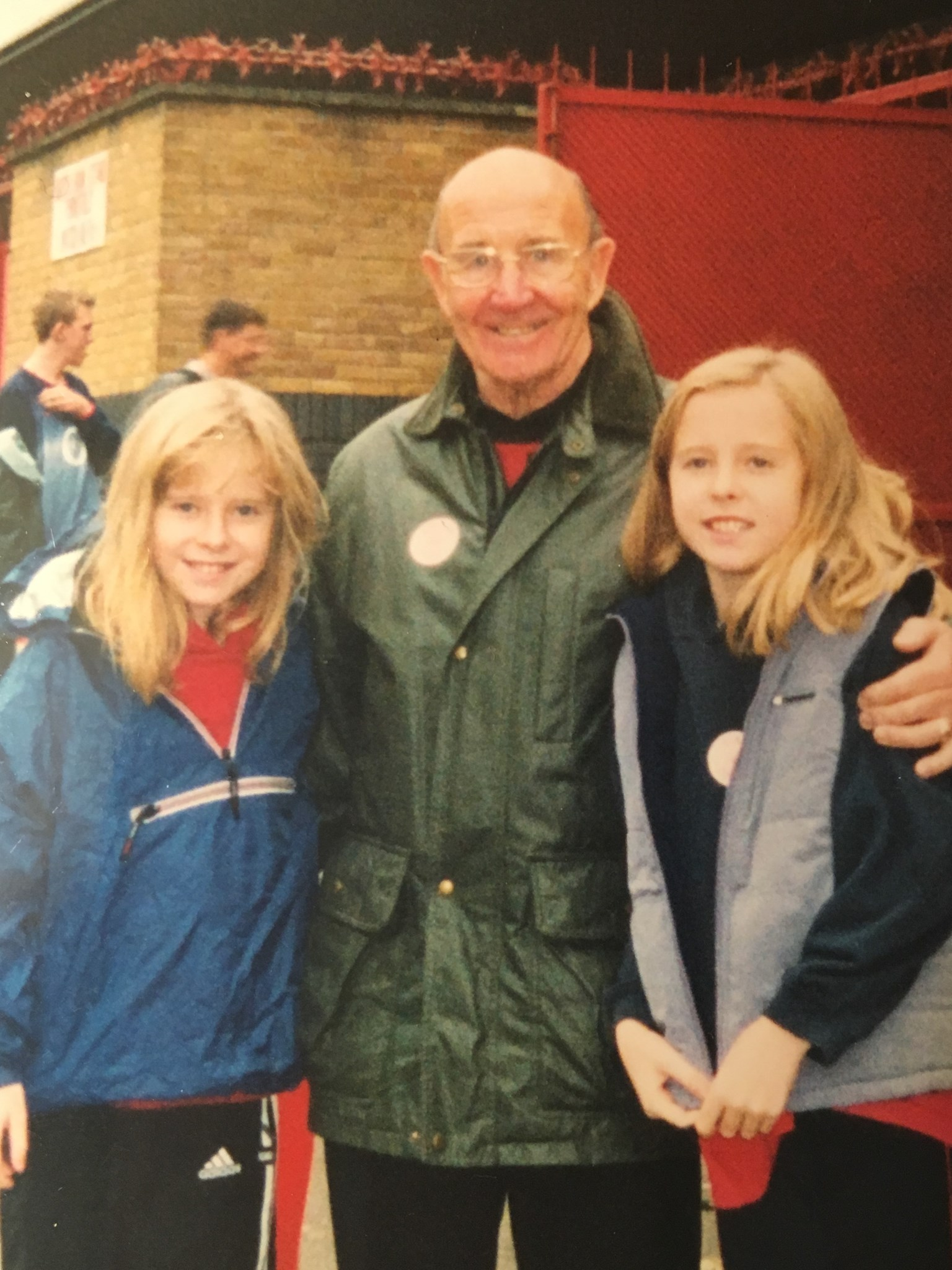 Mc at Highbury with his granddaughters