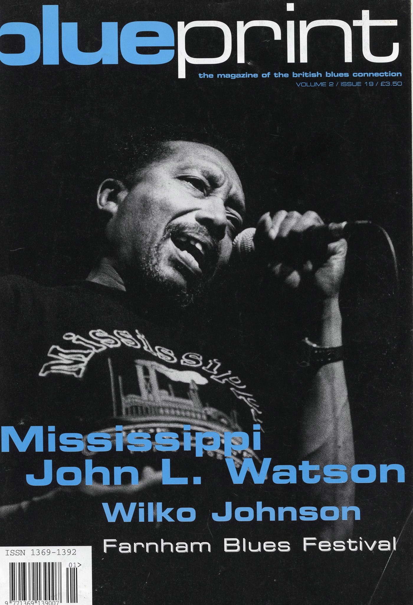 Blueprint mag cover, 1998 (copyright Blueprint, now Blues In Britain Magazine)
