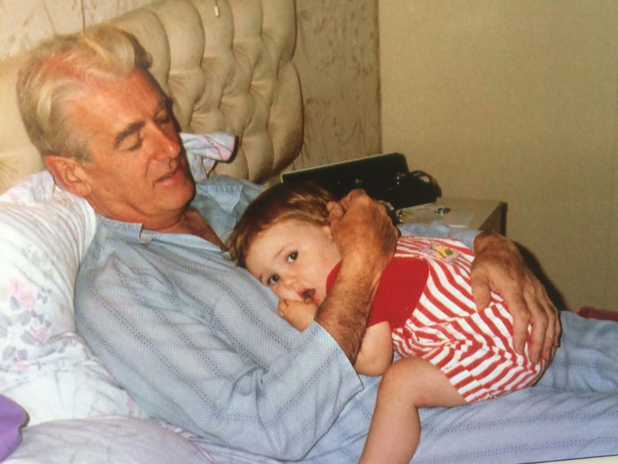 Young Jessica with her beloved Poppie x
