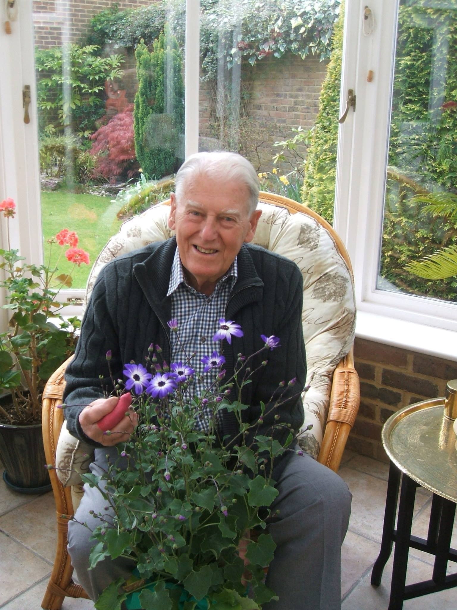 He loved (not lived!) his garden too!