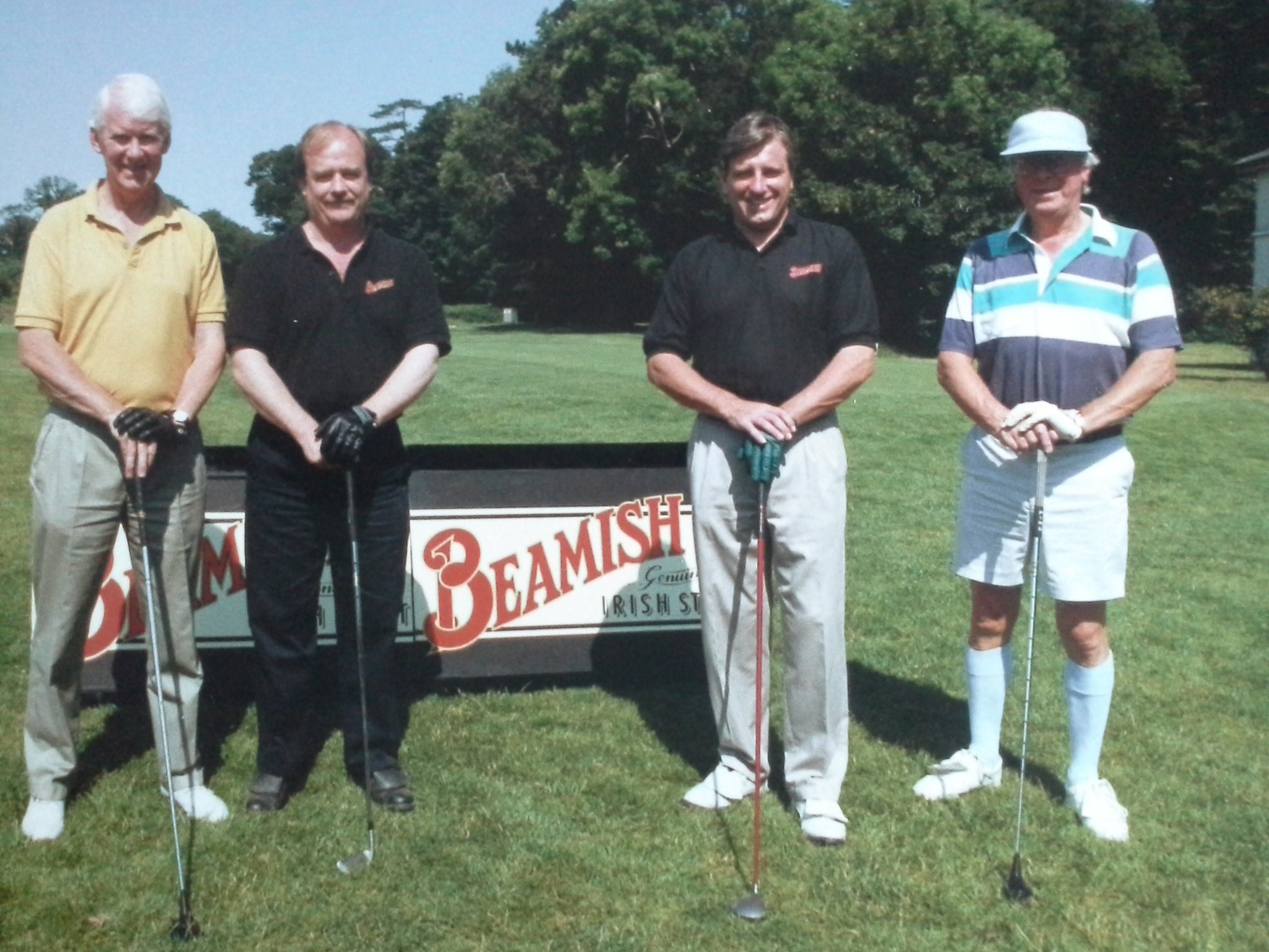 Beamish golf day. Phil Harding, Nigel Ashton, Paul & Bill
