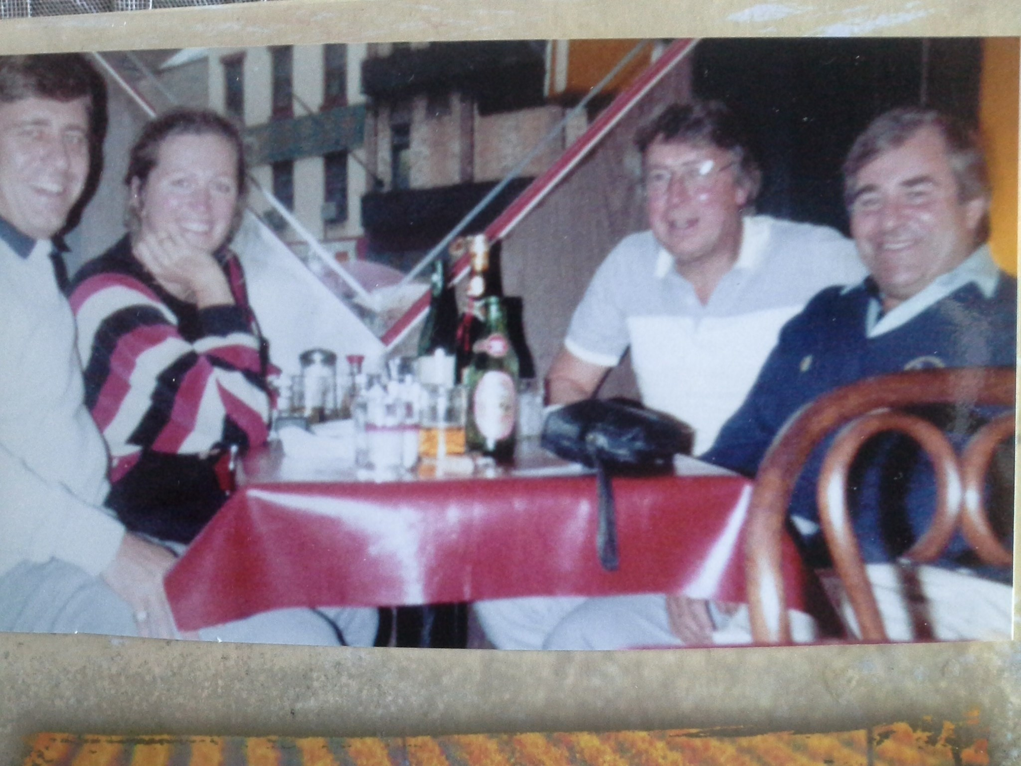 1986 - China Town New York with Denis Hedger, Paul and Jill