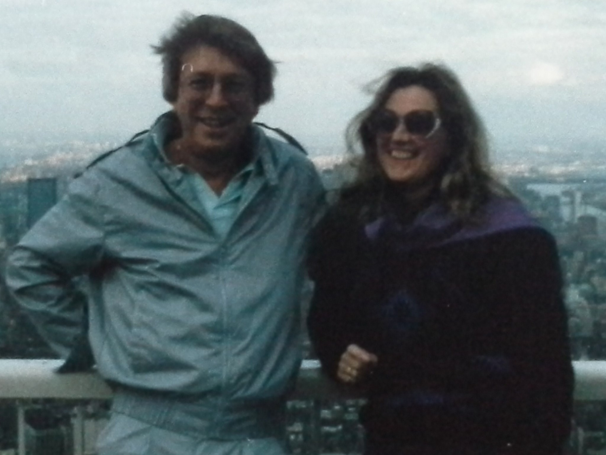 Billy and Jilly on top of the Twin Tower; 1986