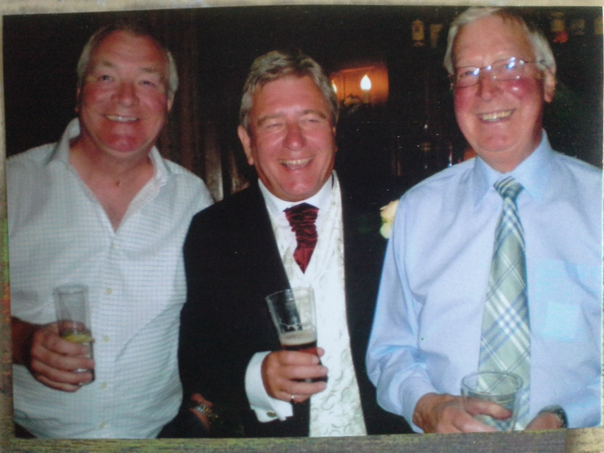 With Lawrie & Paul at Hannah's wedding 2009, Ruithin Castle. North Wales
