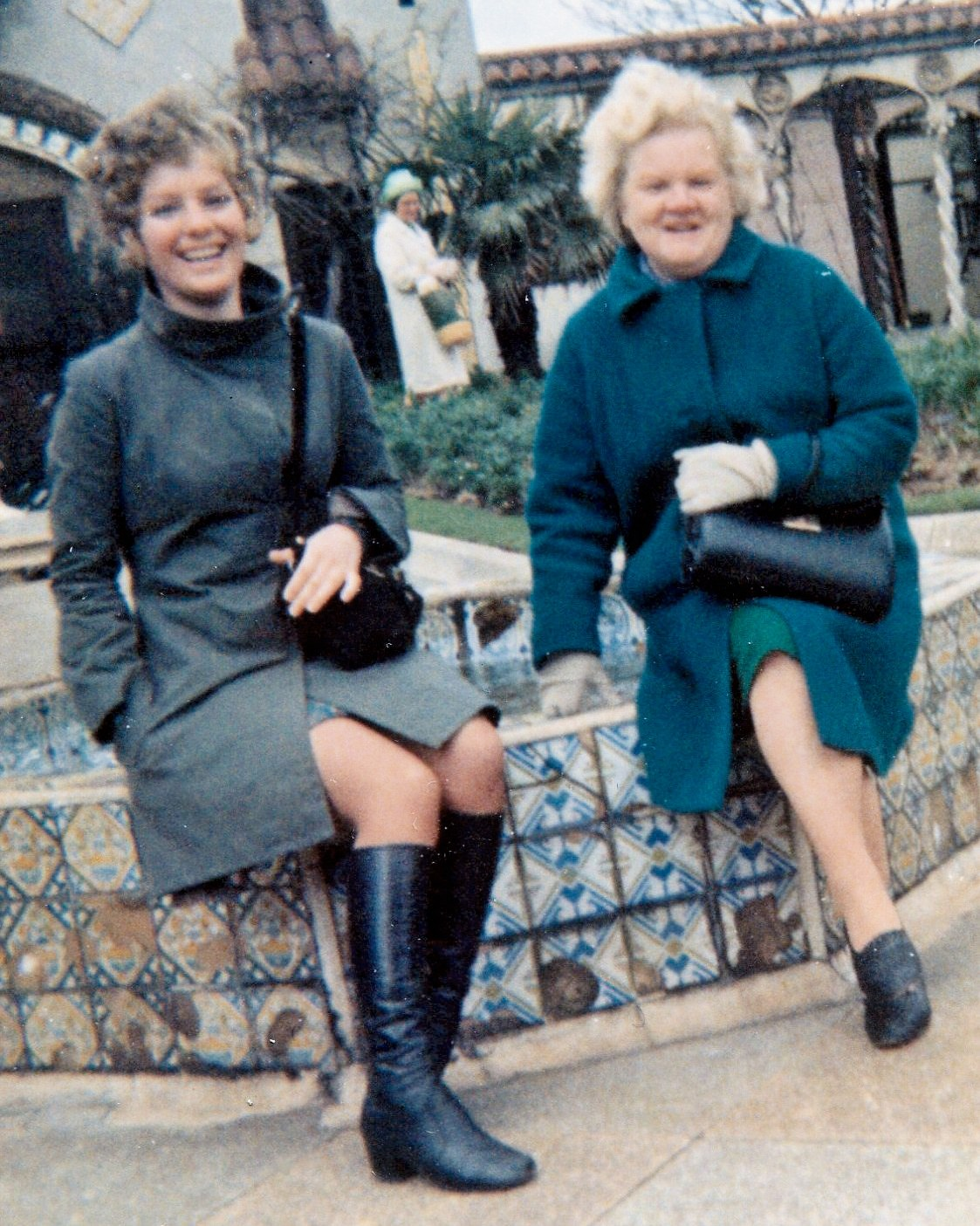 Mavis with her Mum April 1969? just after heart surgery - looks great!